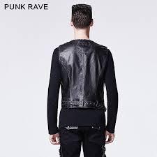 assassin men s black silver distressed faux leather utility vest special order