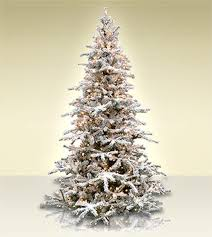 White Forest Flocked Artificial Christmas Tree - Classics Collection |  Treetime