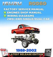 isuzu rodeo manual ebay 1999 Isuzu Rodeo Wiring Diagrams isuzu holden rodeo tf 140 1988 2002 factory servise repair manual workshop (fits 1999 isuzu rodeo wiring diagram