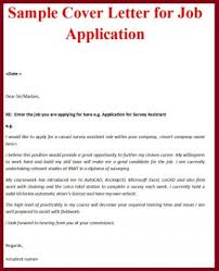 Free Sample Cover Letter For Job Application Impressive Cover Letters Sample For Job Best A Letter Applying With No