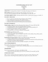 Daycare Teacher Resume Beautiful Teacher Assistant Resume Example