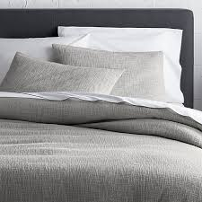 crate and barrel exclusive lindstrom grey duvet covers and pillow shams