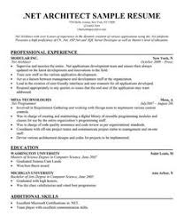 images about resume samples across all industries on    net  architect resume sample  resumecompanion com