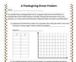 T Chart Math Problems Math Ccss Thanksgiving Dinner Problem