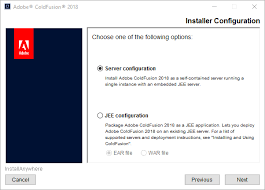 Install the server configuration