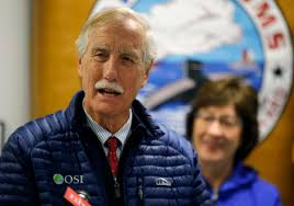 Senator Angus King's flight was canceled, so he caught a ride to Maine with  strangers - The Boston Globe