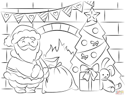Santa Christmas List Coloring Page With Free Pages And Printables