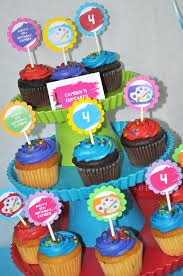12 artist birthday cupcake toppers painting party artist birthday party decorations on