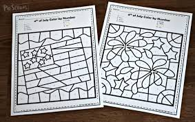 15 free printable thanksgiving coloring pages. Free 4th Of July Color By Number