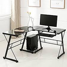 office furniture glass. office more corner lshape computer desk glass laptop table workstation home office furniture