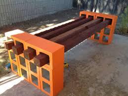 cinderblock furniture. DIY Cinder Block Bench In The Garden \u2013 Creative Ideas For Your Patio : Cinderblock Furniture