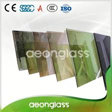 high quality transpa tempered stained colored reflective glass sheet