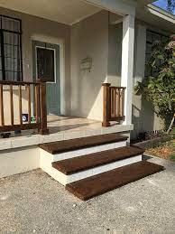 simple diy wood porch steps makeover