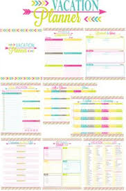 vacation budget planner travel planner printables travel planner daily journal and planners