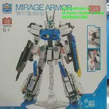 Bộ Xếp Hình Robot Transformer Siêu Khủng - Lắp Ráp Robot MIRAGE Mẫu Màu  Trắng