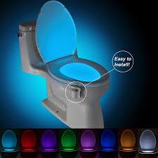 Bathroom Led Night Lights Us 2 97 20 Off 8 Color Auto Sensing Toilet Light Wc Led Night Light Motion Sensor Smart Backlight For Toilet Bowl Bathroom Nightlight In Led Night