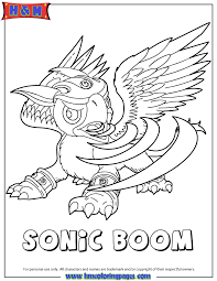 Small Picture Skylanders Giants Air Sonic Boom Coloring Page H M Coloring Pages