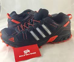 adidas running shoes black. image is loading new-adidas-rockadia-trail-running-shoes-black-thrasher- adidas running shoes black m