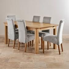 Fresh Oak Dining Table And 6 Cream Chairs 26279 Ligh Sewstars