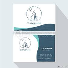 Business Gift Cards With Logo Marine Abstract Logo Design Corporate Business Card Element