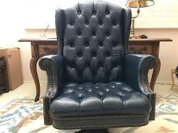 tufted leather executive office chair. Tufted Leather Executive Office Chair By North Hickory Furniture Company [Photo 2] U