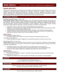 Architectural Resume Examples Resume And Cover Letter Resume And