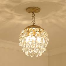 ceiling crystal light small wrought