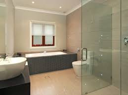 bathroom remodel rectangular inbuilt bath light wood flooring white sink and toilet bathrooms without tiles 50 alternative design ideas