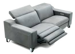 leather reclining couch white sofa and gray modern design rectangular shape for two cortez premium top