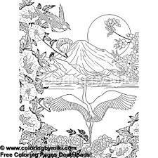 Japan Landscape Mt Fuji Coloring Page 935 Coloring By Miki
