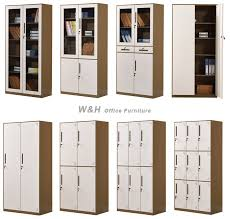wood office cabinet. Brown + White Metal Glass Office File Cabinet Wood