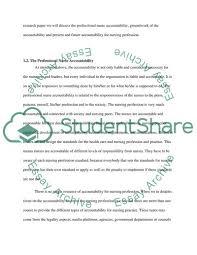 Accountability In Nursing Profession Essay Example Topics