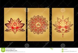 роскошный набор татуировки индийский стиль цветя лотос