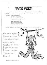 Free poetry worksheets: name poem | Poetry Resources | Pinterest ...