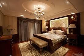 Extremely Classy Master Bedroom With Round Ceiling Design Idea ...