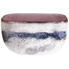 alfredo barbini murano blue white gold italian art glass decorative bowl dish for at 1stdibs