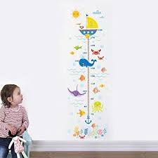 Wall Measuring Chart Holoras Child Height Wall Sticker Diy Kids Growth Height Measuring Chart Removable Wall Decal Room Decoration For Kids Nursery Bedroom Living Room