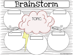 Brainstorm Template Word Brainstorming Graphic Organizer Template Word Doc All About Sana
