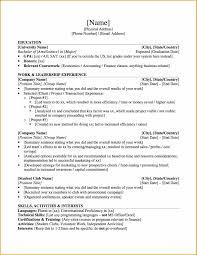 Resume Graduate Student Resume Templates