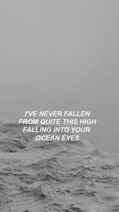 Ocean Eyes Billie Eilish Song Lyrics In 2019 Billie Eilish
