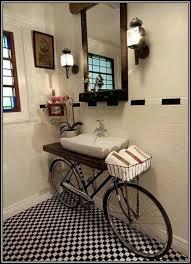 bike bathroom recycle