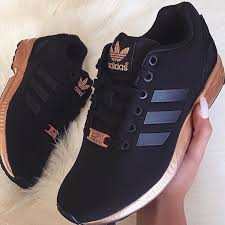 adidas shoes rose gold. adidas shoes - zx flux black and rose gold