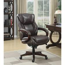 la z boy bellamy coffee brown bonded leather executive office chair 45783 the home depot