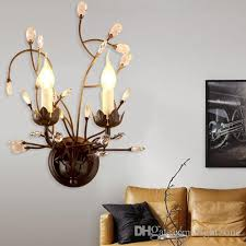 2018 new arrival wall lamps chandeliers led wall lights crystal american style chandeliers ceiling wall lights for living room 85 265v ce rohs from