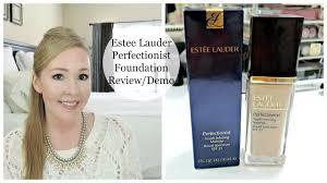 estee lauder perfectionist foundation review demo