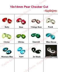 Glass Jewel 14x10 Mm Tear Drop Pear Faceted Double Checker Cut Unfoiled Pick Your Colors