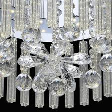 modern chandelier ceiling light crystal mercury