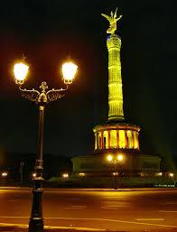 Gargoyle String Lights Peace Column Berlin Monument Peace Column City Of