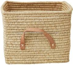 basket with leather handles natural 38 90
