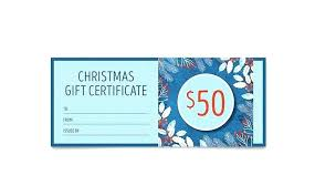 Family Portrait Gift Certificate Template Word Birthday Free